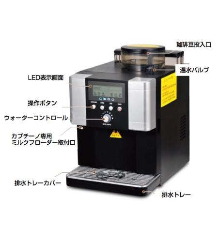 コーヒーマシン 各パーツ